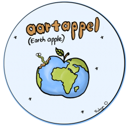 Illustration of an earth apple