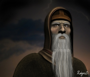 3d rendering of an old sage