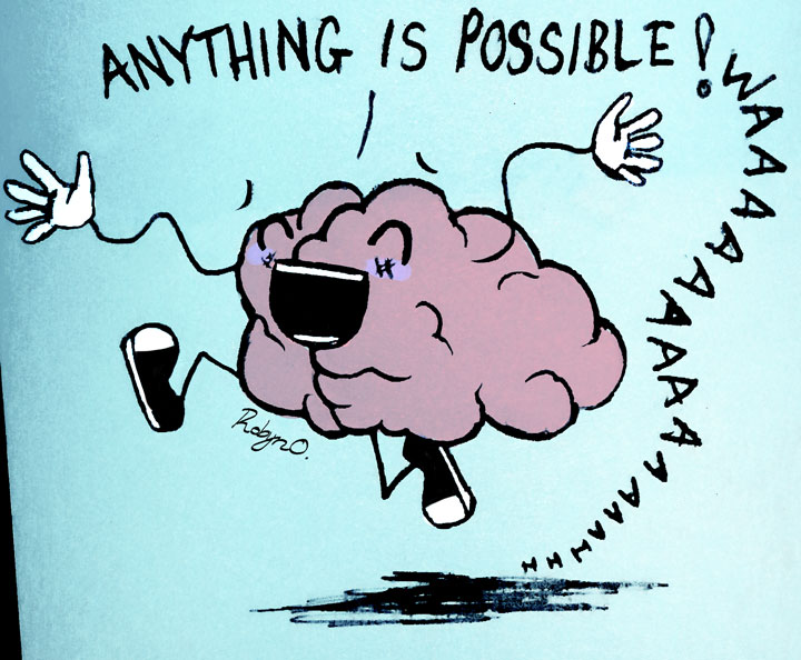 Illustration of an overexcited brain