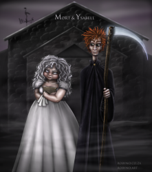 Fan art of Mort and Ysabel from Mort by Terry Pratchett
