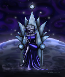 Digital painting illustration of The Moon Queen
