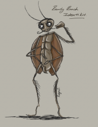 Randy Roach - illustration of a very randy cockroach