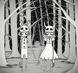 Hansel and Gretel ink illustration