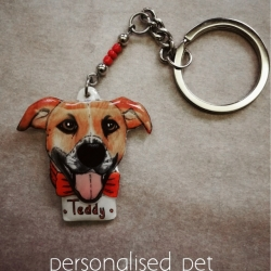 custom keychain of a pet